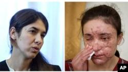 올해사하로프인권상수상자로선정된니디아무라드씨(왼쪽)와라미스하지바샤르씨. (자료사진)