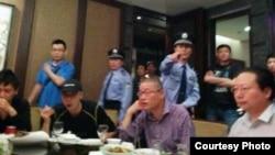 杭州公民聚餐被抓图片(网友提供)