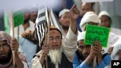 هندي مسلمانانو د داعش په خلاف پراخې مظاهرې کړیدي.