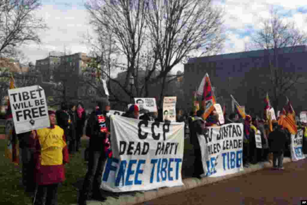 藏族人士抗议中国政府(2)