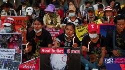 Protest u gradu Jangonu