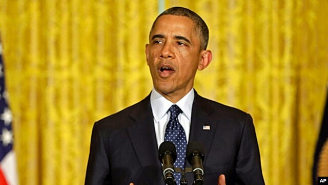 President Barack Obama speaks on the Internal Revenue Service's targeting of conservative groups for extra tax scrutiny, May 15, 2013.