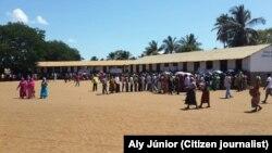 Assembleia de voto na província de Cabo Delgado
