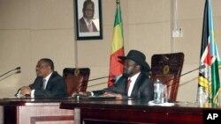 Президент Південного Судану з лідерами Кенії та Ефіопії в Джубі у четвер