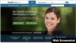 联邦政府医保市场网站。(网站截图)