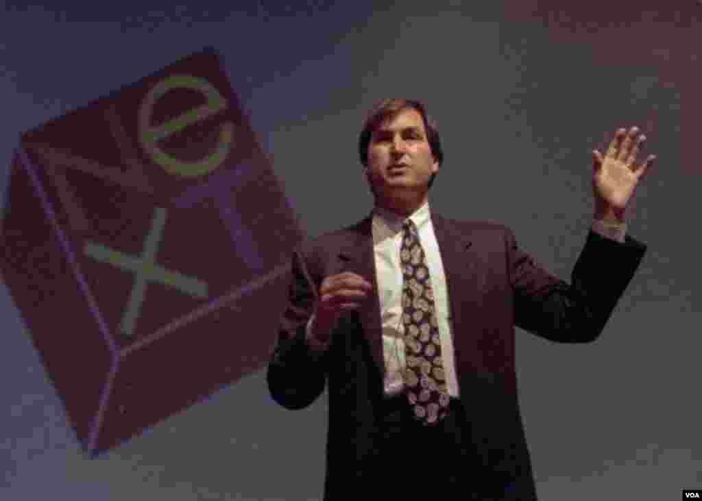 30. oktobar 1991. - Džobs otvara Unix ekspo u Njujorku kao šef NeXT komjutera. (AP Photo/Dick Drew)