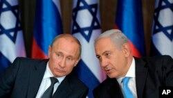 俄羅斯總統普京和以色列總理內塔尼亞胡於2012年6月25日曾經會面。