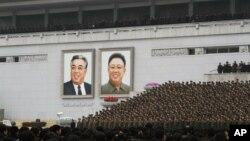 지난해 2월 평양 김일성 광장에서 3차 핵실험 성공을 자축하는 대규모 군중대회가 열렸다. (자료사진)