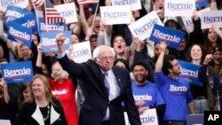El senador Bernie Sanders triunfó en New Hampshire y ahora tiene su mira puesta en Nevada y Carolina del Sur, el siguiente reto en la contienda por la nominación demócrata. Foto AP