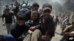 هزاران فلسطینی در مرز غزه و اسرائیل مظاهره کردند