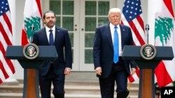 سعد حریری در کاخ سفید میهمان پرزیدنت ترامپ بود.