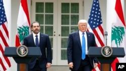 Дональд Трамп и премьер-министр Ливана Саад Харири
