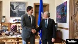 El secretario general de la OEA, Luis Almagro recibió al gobernador de oposición venezolano Léster Toledo, quien realiza una gira internacional para presionar por la libertad de los prisioneros políticos en su país.
