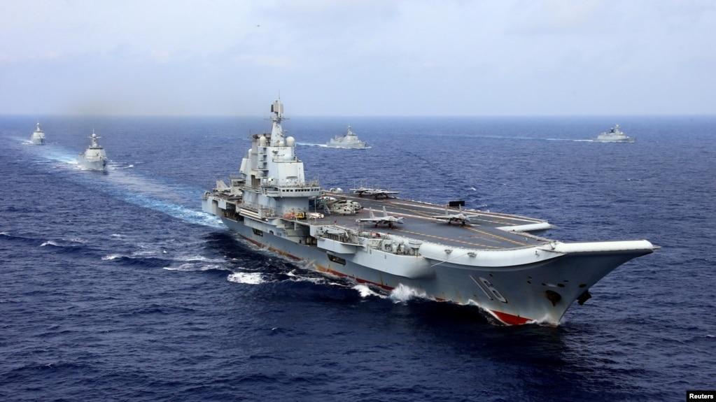 2018年4月18日,中国航母辽宁号参加中国海军在西太平洋的军事演习。