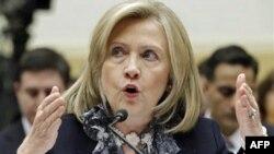 Ngoại trưởng Hillary Clinton ra điều trần trước một ủy ban Quốc hội về chính sách đối ngoại của Hoa Kỳ, ngày 1/3/2011