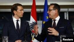 Голова Народної партії Себастіан Курц (л) і голова Партії свободи Гайнц Кристіан Штрахе