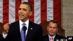 2013년 2월 미 의사당에서 국정연설을 하고 있는 오바마 대통령