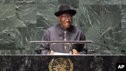 President of Nigeria, Goodluck Jonathan, June 8, 2011