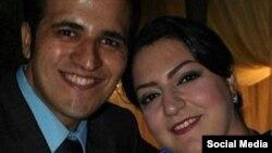 معین محمدی، شهروند بهایی زندانی در کنار همسر خود