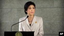 Thủ Tướng Thái Lan đang bị chống đối Yingluck Shinawatra.