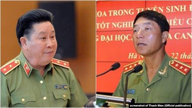 Hai trong số những sĩ quan cao cấp dính líu trong vụ Vũ 'Nhôm'.