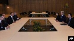 Встреча Сергея Лаврова с Джоном Керри в Лиме, Перу. 17 ноября 2016.