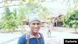 Marilson das Neves, voluntário e guia turístico em São Tomé