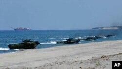 美國與菲律賓2019年聯合軍演的情形。