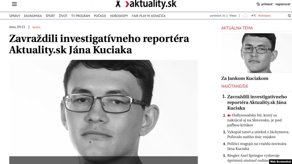 Gazetari i vrarë sllovak po hetonte rreth krimit të organizuar