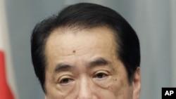 日本首相菅直人星期二在東京的記者會上