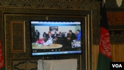 President Ashraf Ghani video conference with people in Herat