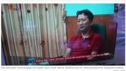 """Hình ảnh ông Trịnh Xuân Thanh """"về nước thú tội"""" được chiếu trên truyền hình Việt Nam."""
