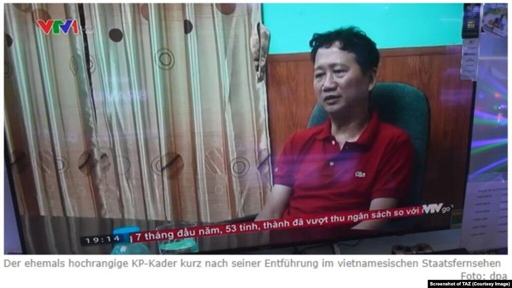 Trịnh Xuân Thanh trên nhật báo TAZ của Đức. Một nguồn tin thân cận với Bộ Ngoại giao Việt Nam cho TAZ biết Hà Nội và Berlin đang thương lượng đưa ông Thanh trả lại Đức.