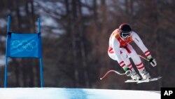El austriaco Matthias Mayer ganó el eslalon supergigante en los Juegos Olímpicos de Invierno en Pyeongchang, Corea del Sur, el viernes, 16 de febrero de 2018.
