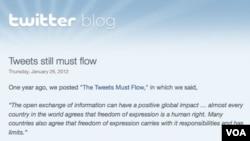Twitter mengumumkan dalam blog-nya hari Kamis (26/1), bahwa mereka kini mampu menyensor pesan 'tweet' per negara.