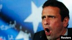 El candidato Capriles sigue su recorrido por todos los estados de Venezuela en la campaña presidencial.