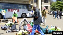 Kenyan athletes protesting Athletics Kenya