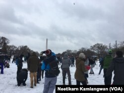 Snowball Fight in DC on March 21, 2018