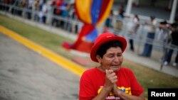 Một người ủng hộ cố Tổng thống Venezuela Hugo Chavez.