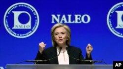 Hillary Clinton, candidate démocrate à la présidentielle aux Etat-Unis, le 18 juin 2015 à Las Vegas.(AP Photo/David Becker)