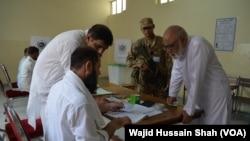 ouverture des bureaux de vote pour les élections législatives à Islamabad le 25 Juillet 2018