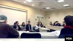 미국 워싱턴의 조지타운대학 내 북한인권 모임인 '북한 내 진실과 인권: THiNK' 주최로 지난 14일 북한 여성의 인권 상황 증언을 듣는 행사가 열렸다.