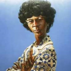 A portrait of the late New York Rep. Shirley Chisholm, painted by artist Kadir Nelson, is shown on Capitol Hill on March 3, 2009, the 40th anniversary of her swearing in ceremony