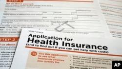 Formulir pendaftaran asuransi kesehatan Medicaid bagi kelompok miskin.