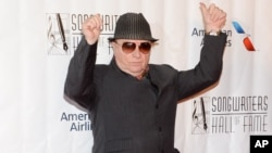 Van Morrison attends the 46th Annual Songwriters Hall Of Fame Induction and Awards Gala, June 18, 2015.
