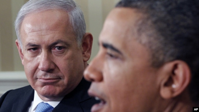President Barack Obama (r) meets with Israeli Prime Minister Benjamin Netanyahu in the Oval Office of the White House, May 20, 2011