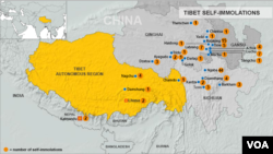 Tibet, self-immolations.