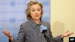 Hillary Clinton addresses the email controversy at a news conference In New York City March 10, 2015.