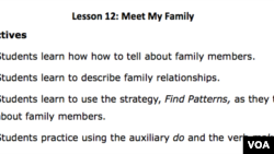 Lesson Plan - Lesson 12 - Meet My Family