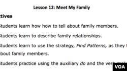 Lesson Plan - Lesson 12 - Meet My Family